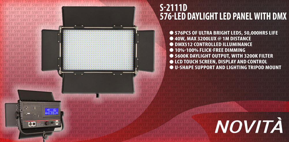 S-2111D 576-LED Daylight LED Panel with DMX